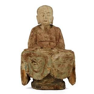 Chinese Carved Wood Buddha