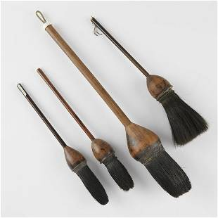 Grp: 4 Chinese Long Handled Calligraphy Brushes