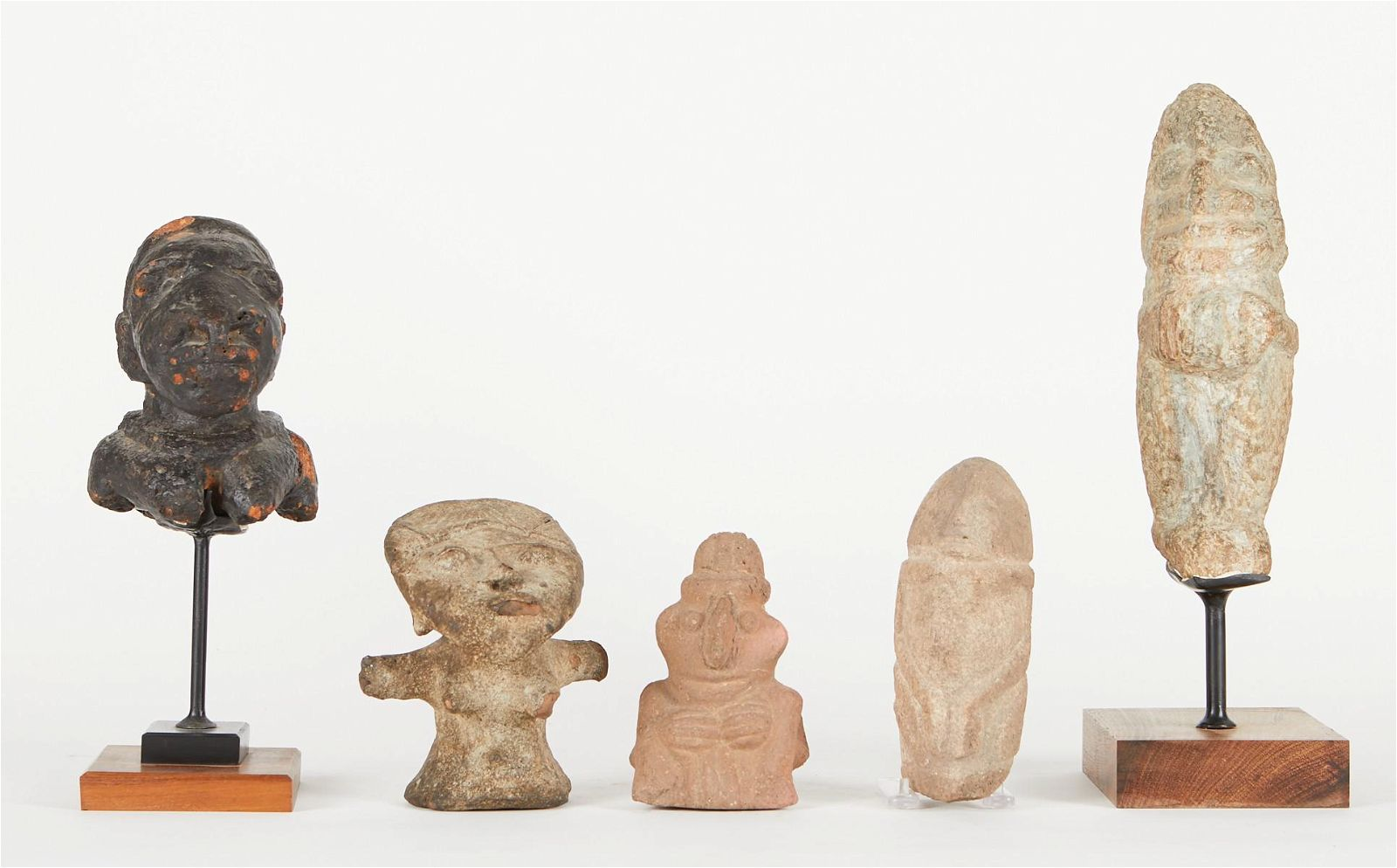 Grp: 5 20th c. African Stone Carvings