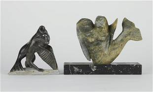 Grp: 2 Inuit Stone Spirits