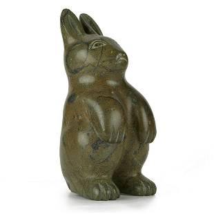 Large Stone Rabbit Carving
