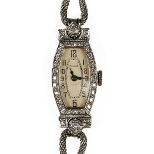 Bulova 18K Gold Platinum Women's Watch