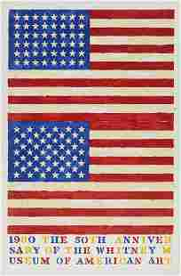 """Jasper Johns """"Two Flags (50th Anniversary of the"""