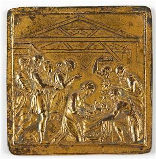 17th c. European Bronze Plaque