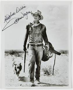John Wayne Signed Photograph with Original Envelope