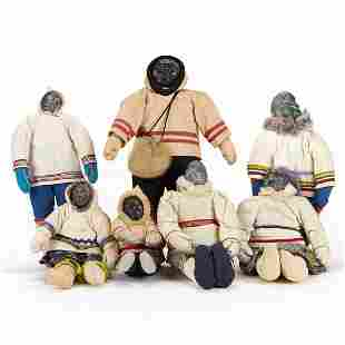 Grp: 7 Inuit Dolls or Figures