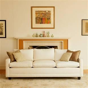 White Upholstered Sofa Dayton's