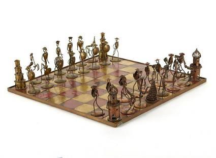 German Brutalist Chess Set