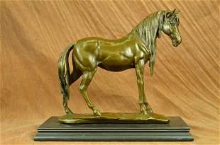 Art Deco Sculpture Elegant Horse Walking Bronze Statue