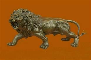 VERY RARE BRONZE SCULPTURE ART DECO LION STATUE SIGNED