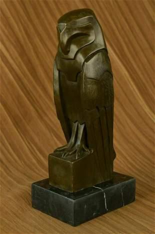Gorgeous Art Nouveau Deco Austrian Bronze Numbered Owl