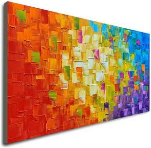 Seekland Art Hand Painted Texture Large Oil Painting on