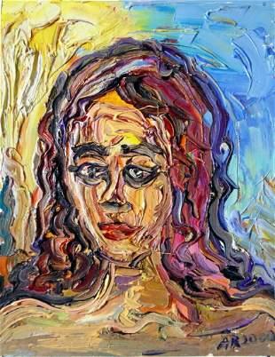 Original OIL Painting Arthur Robins NYC Art Woman Sweet