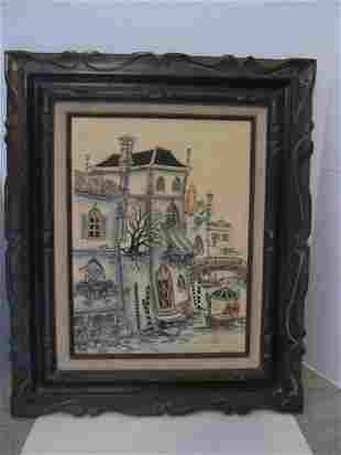 Vintage ROBERT SCOTT Framed/Matted Original Oil