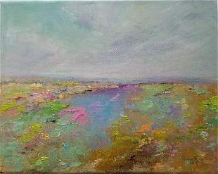 original oil painting landscape abstract colorful