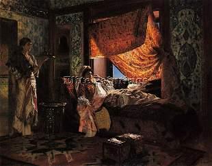 ERNST RUDOLPH A MOORISH INTERIOR ARTIST PAINTING OIL