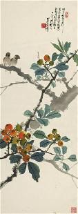 Flora and bird painting by Chen Shu Ren