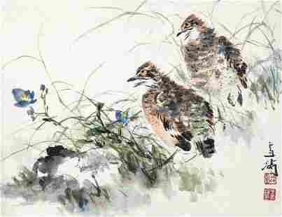 Bird painting by Wang Xue Tao