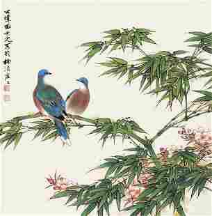 Bird painting by Tian Shi Guang
