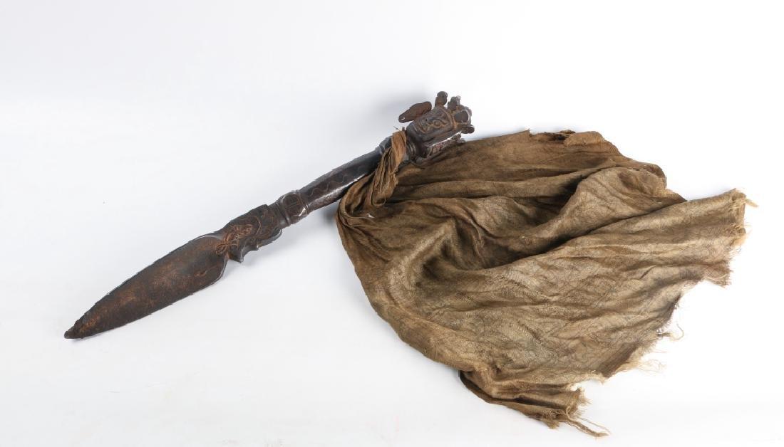 18th Century Antique Iron Ritual Phurba