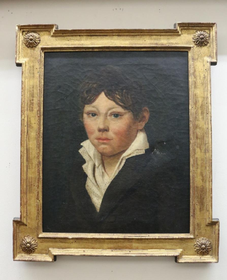 Portrait of a boy, Oil on Canvas.c. Late 1800s