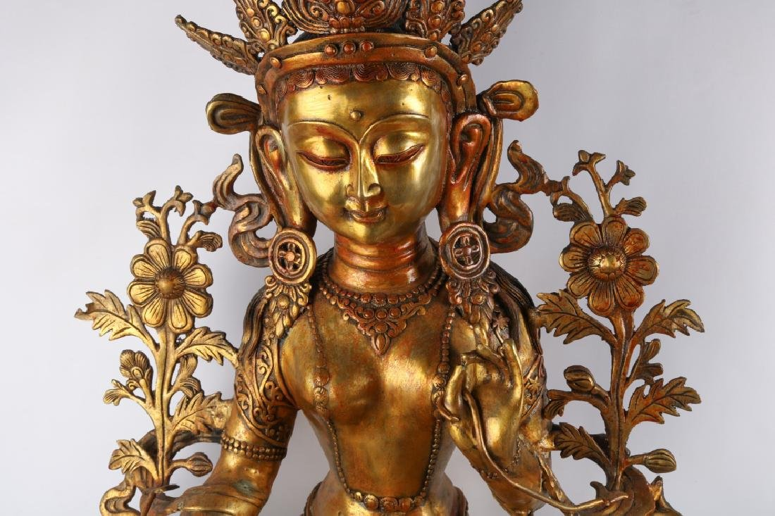 Gold Gilt Bronze Buddha - 3