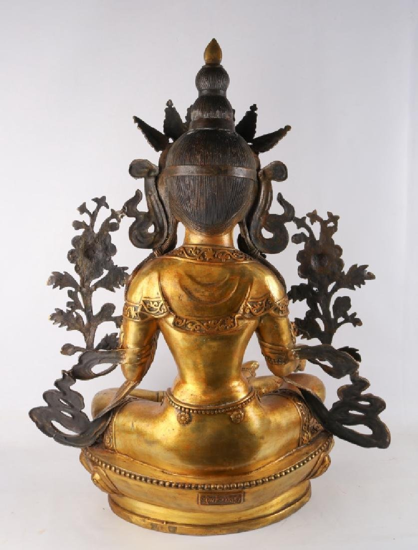 Gold Gilt Bronze Buddha - 5