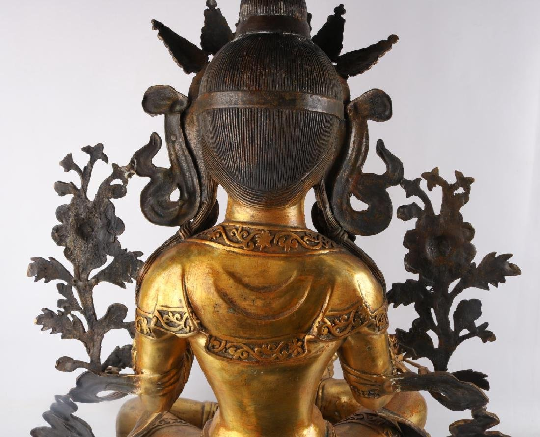Gold Gilt Bronze Buddha - 7