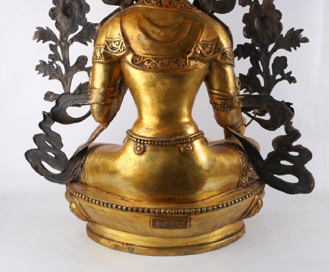 Gold Gilt Bronze Buddha - 8
