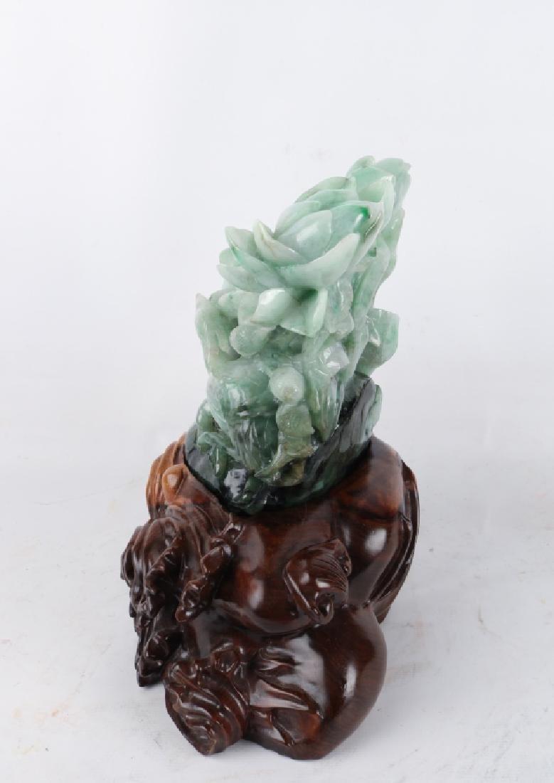 Chinese Jade Craving of Flower - 2