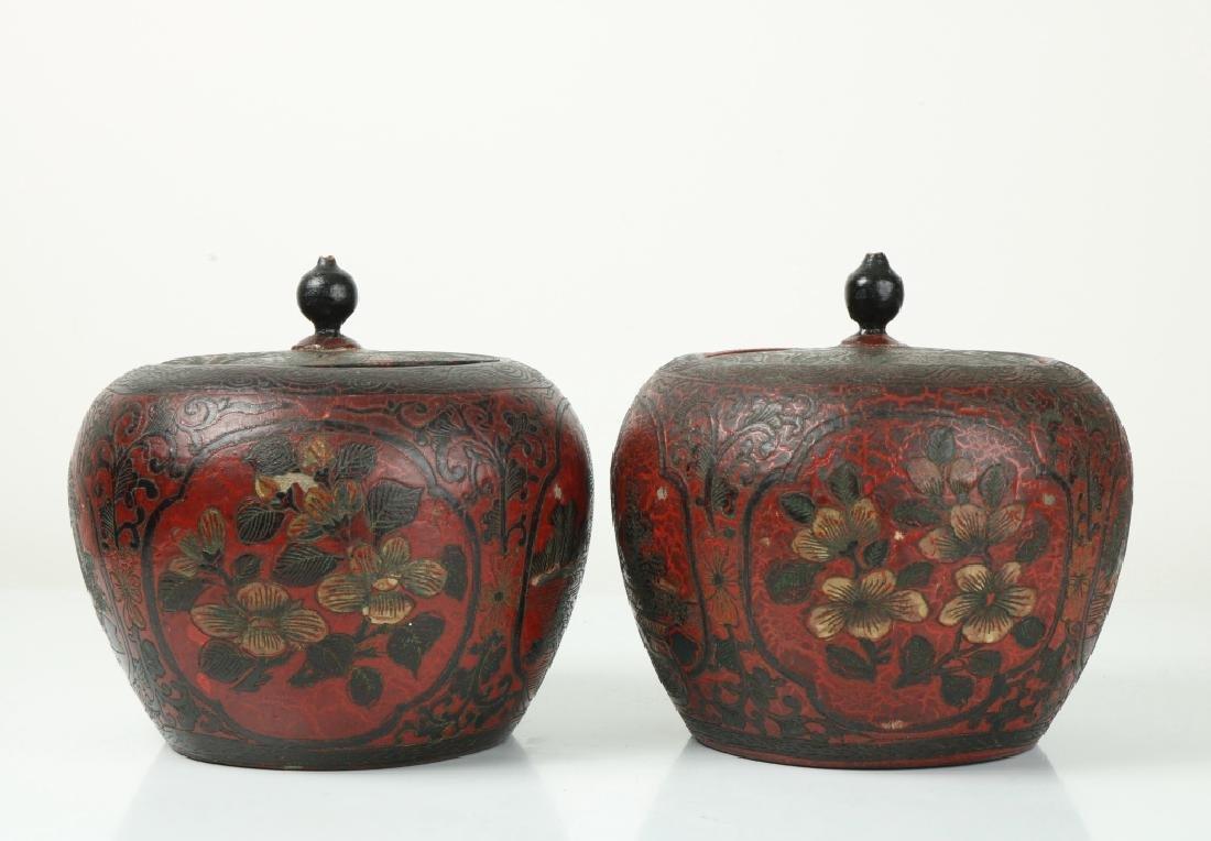 A Pair of Korean Wood Jar - 2