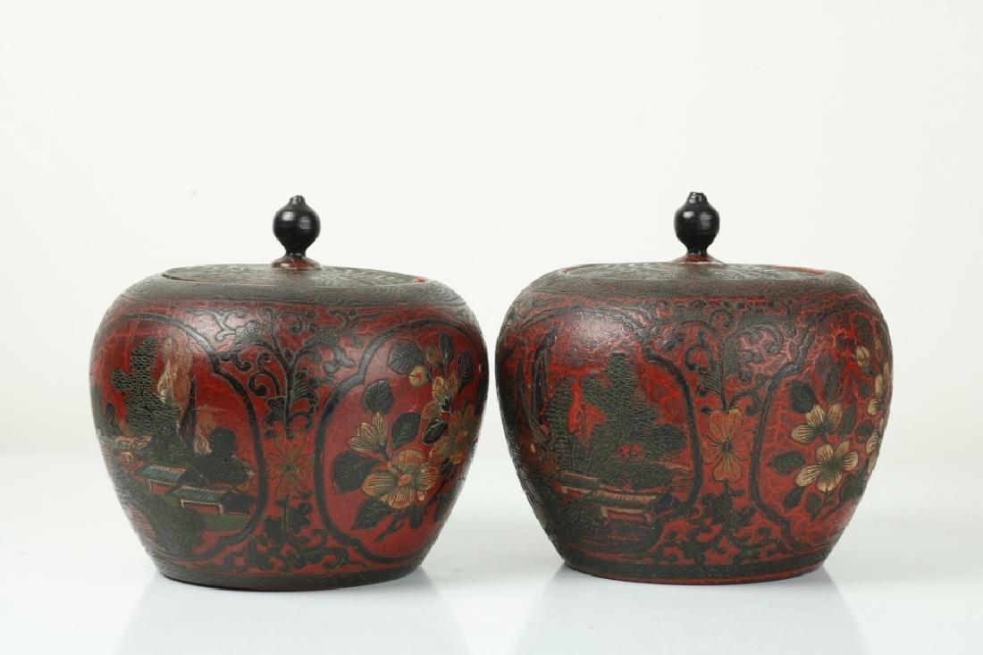 A Pair of Korean Wood Jar - 3