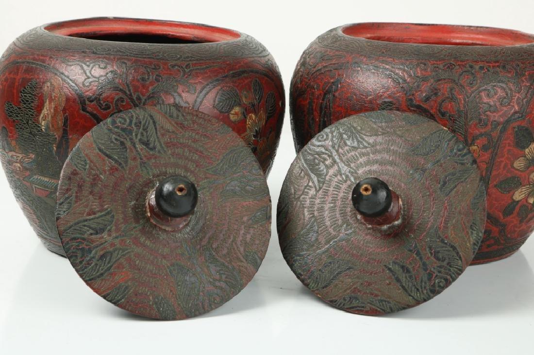 A Pair of Korean Wood Jar - 4