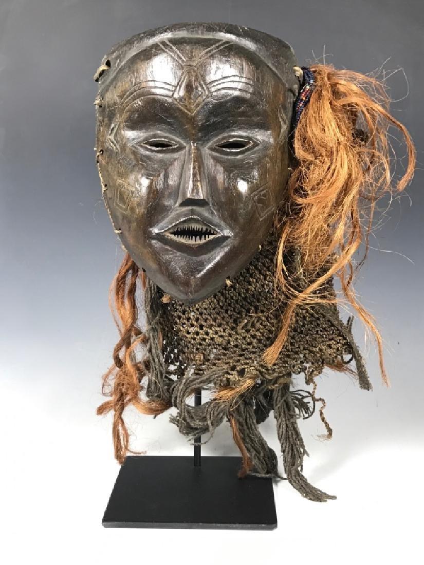 African Art Chokwe Mask, Angola