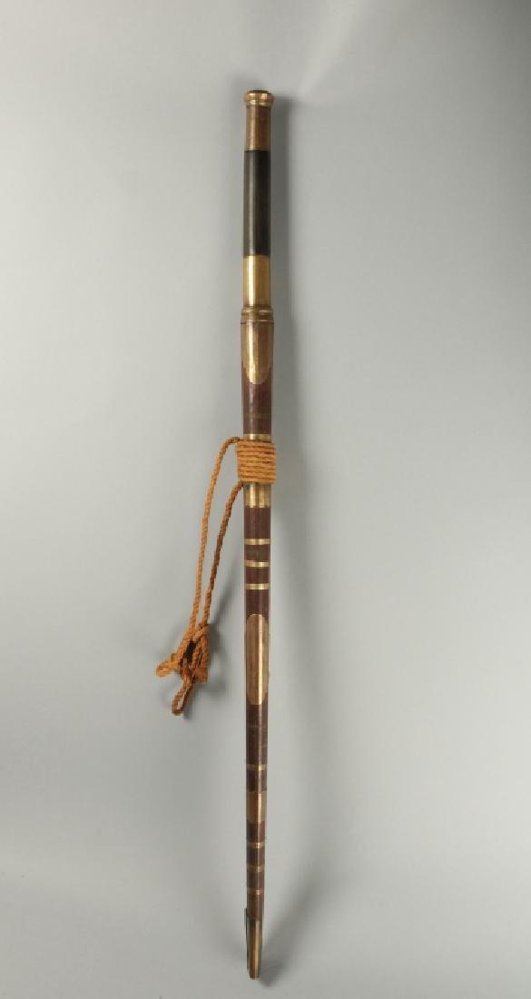 19th C Brass Amountand Polished Grip Panels
