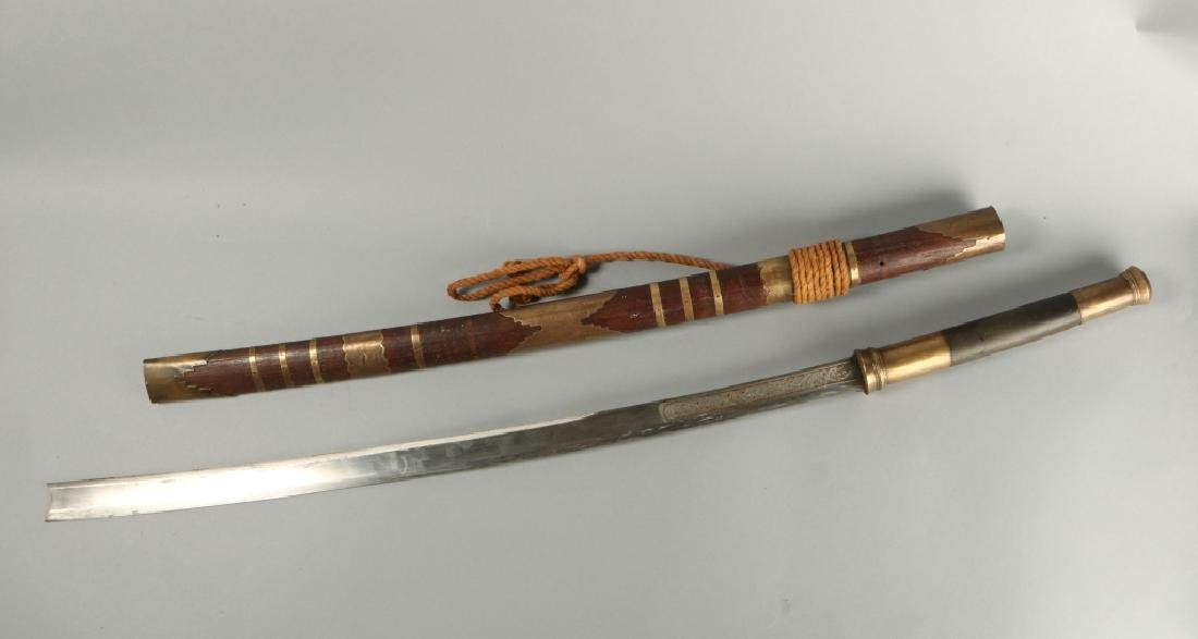 19th C Brass Amountand Polished Grip Panels - 2