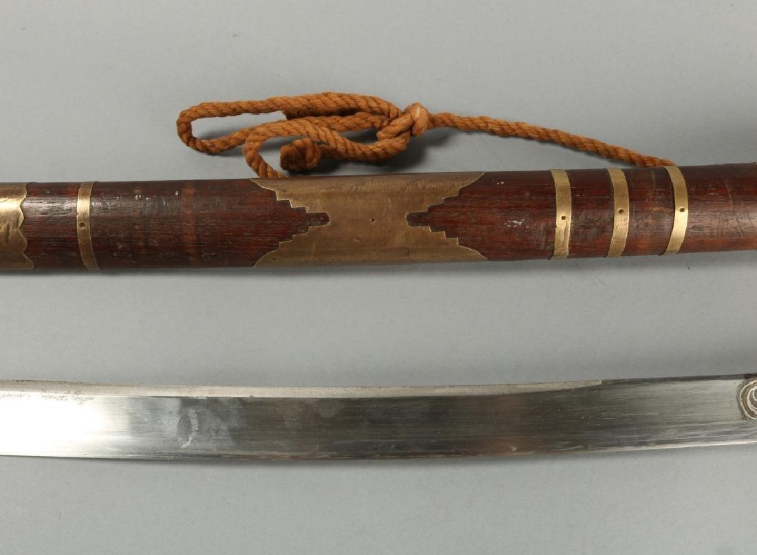 19th C Brass Amountand Polished Grip Panels - 4
