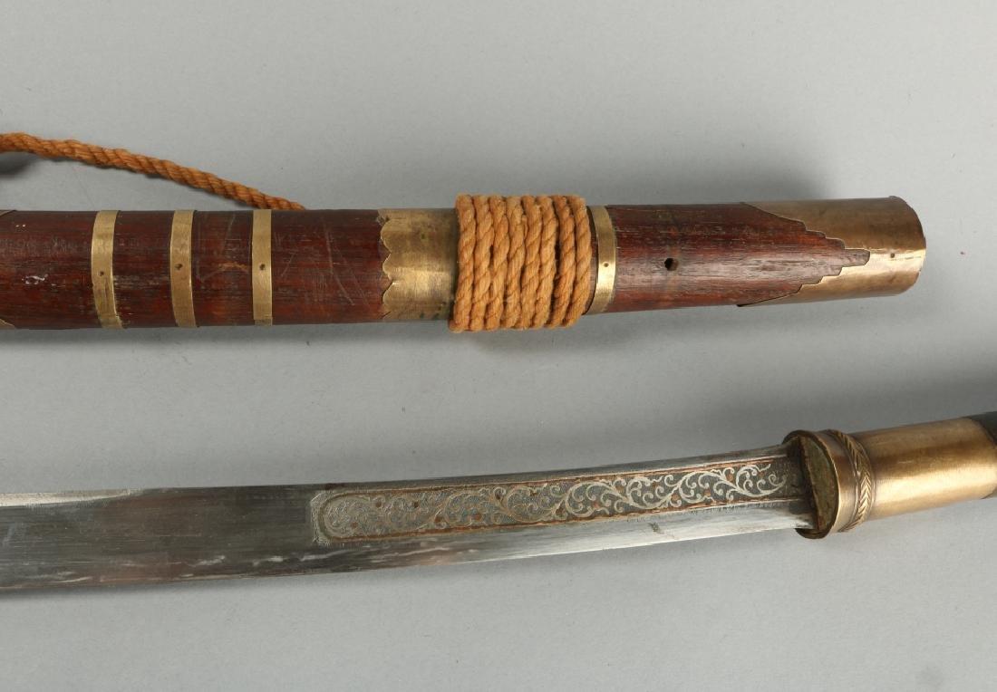 19th C Brass Amountand Polished Grip Panels - 5