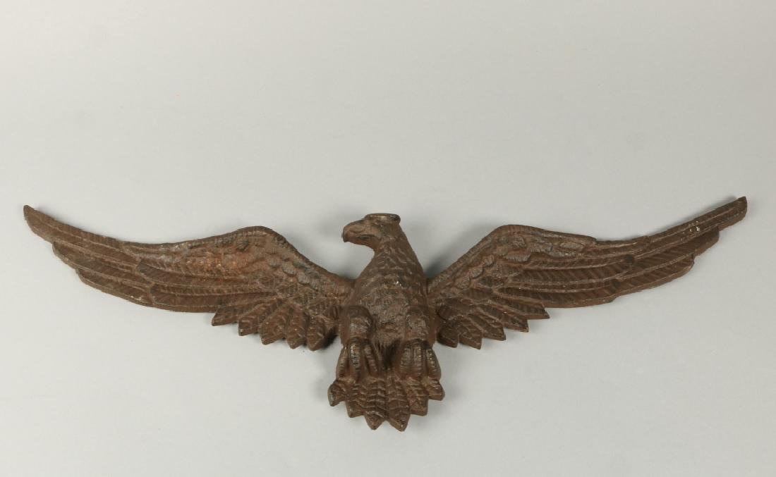 CAST IRON OPEN WING EAGLE