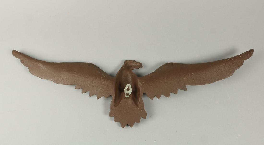 CAST IRON OPEN WING EAGLE - 2