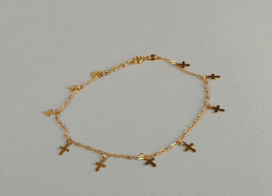 18 K Gold Chain Ankle Bracelet