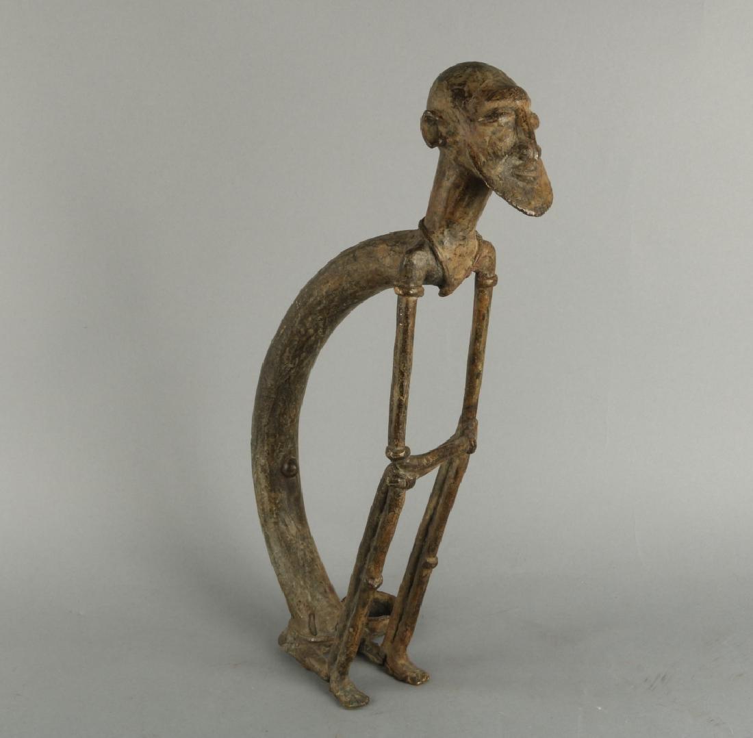 African Art Dogon Bronze Statue - 2