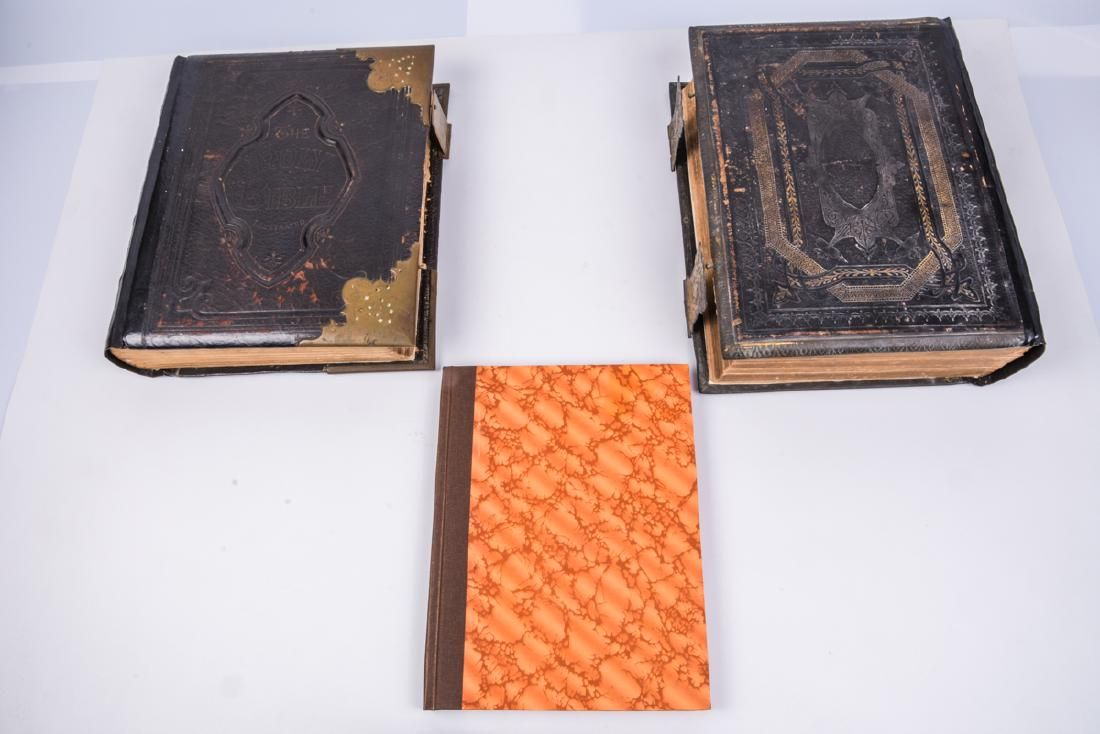 Collection of 3 antique Christian Bibles