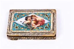 Italian Silver Art-Deco powder box