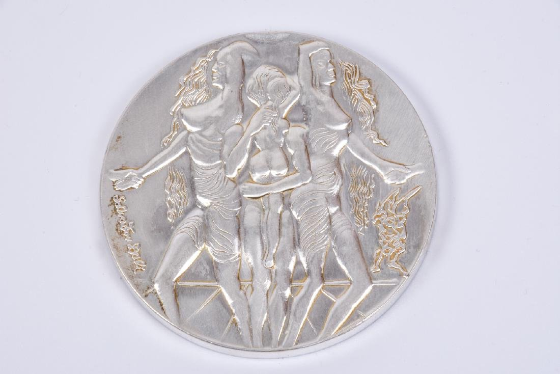 For Peace - Silver Medal 999 Designed by Salvador Dali