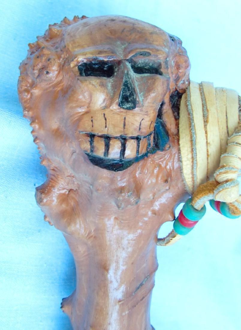 Native American Spike Axe Skull Head Tool - 4