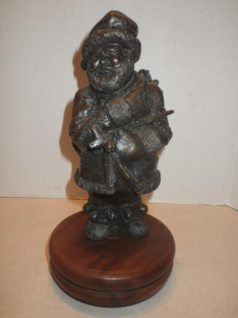 Troy Anderson signed Bronze Native American Santa Claus