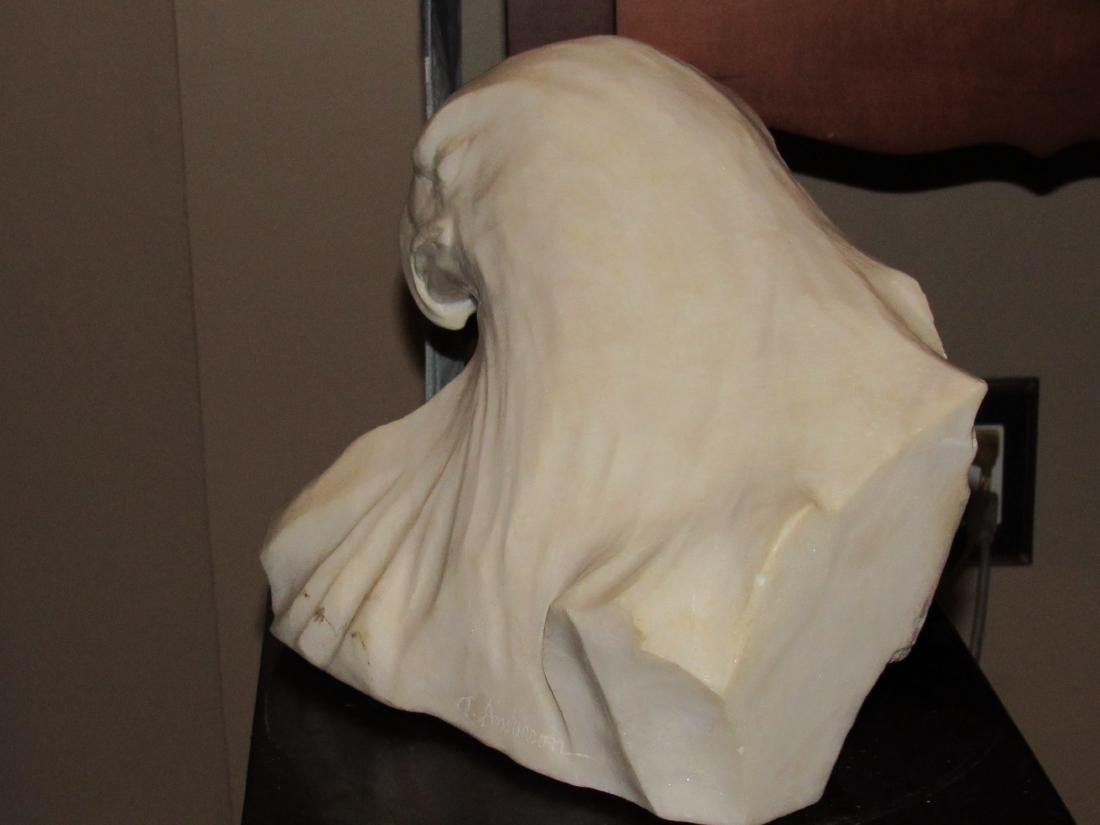 Stone Marble Sculpture - White Eagle Head - T. Anderson - 6
