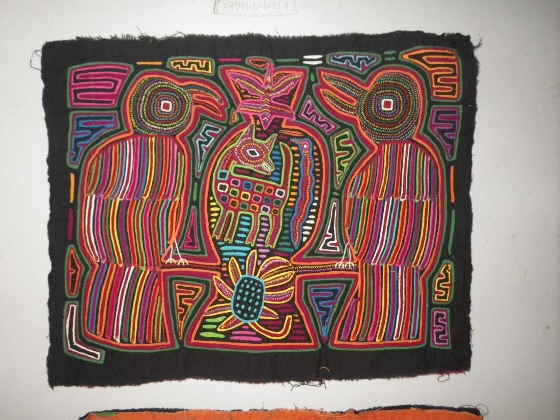 Three (3) Native American Molas - 6