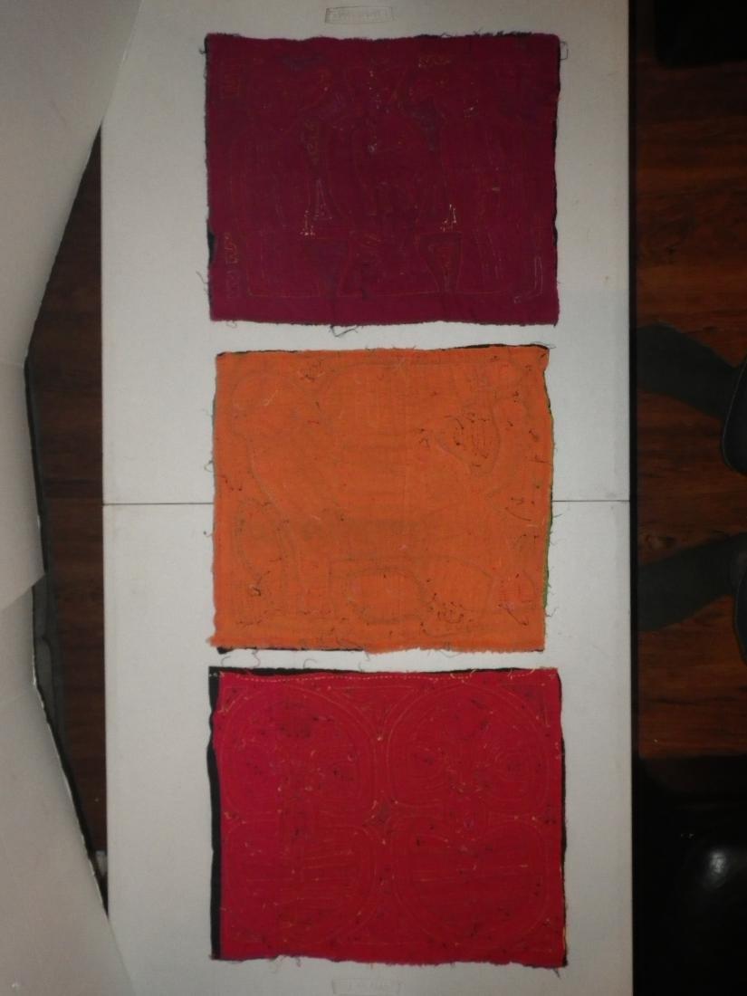 Three (3) Native American Molas - 8